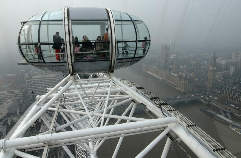 The London Eye - on the top