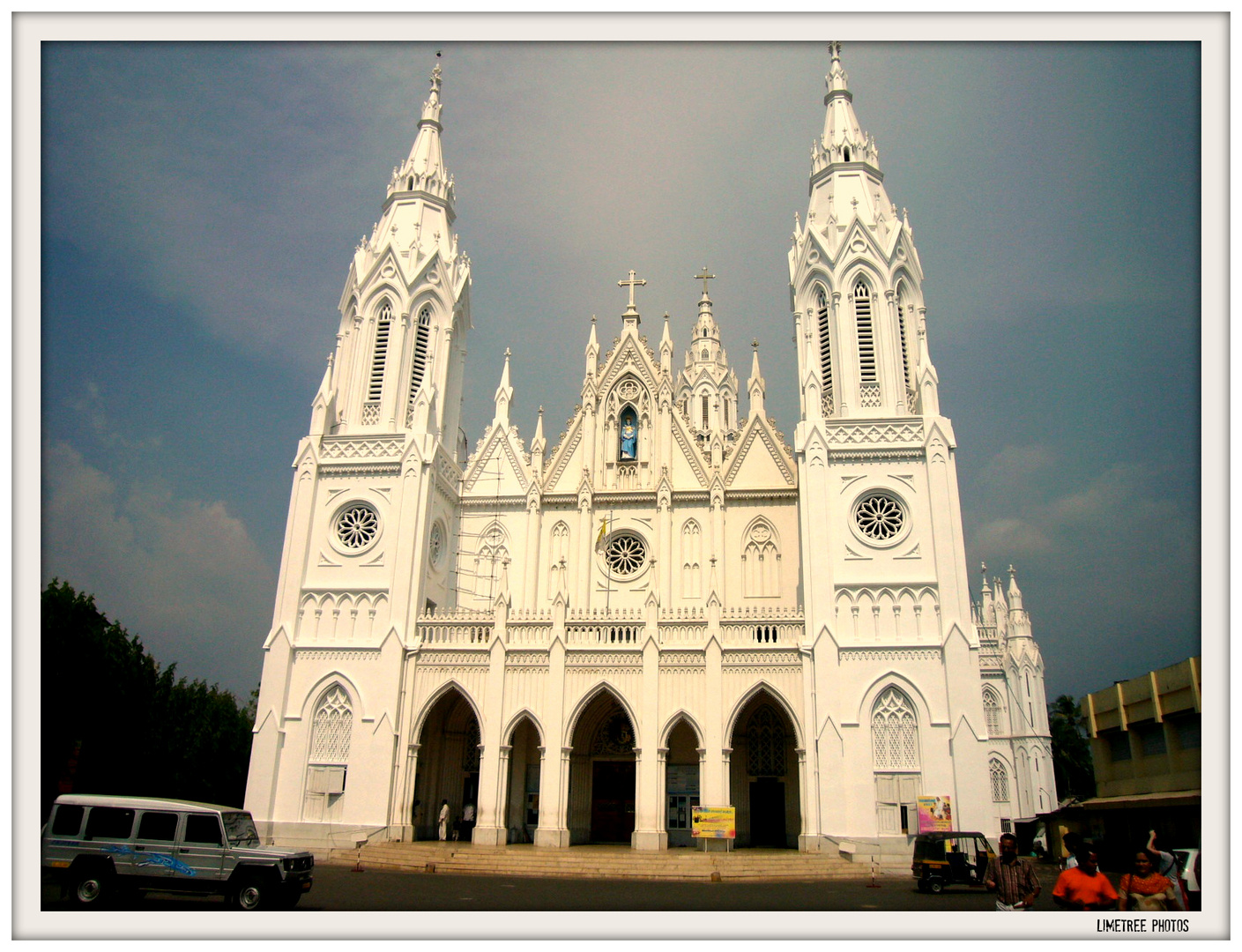 The Lourdes Cathedral in Thrissur