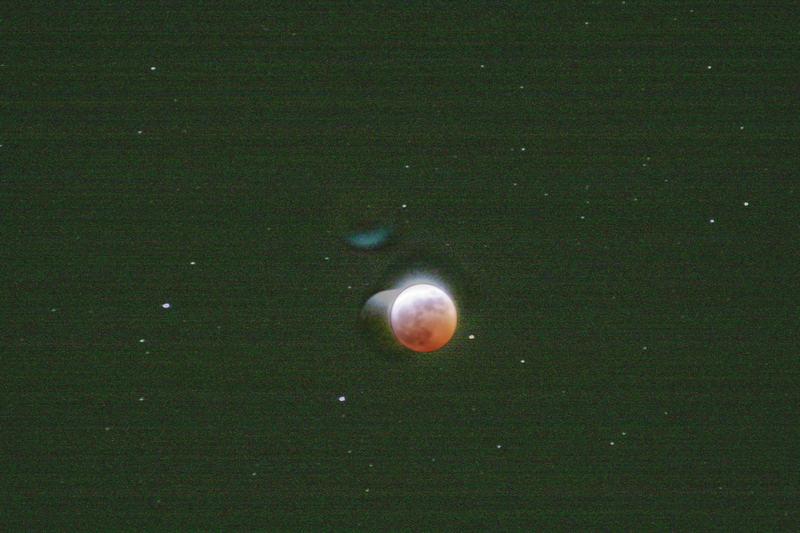 the lunar eclipse,