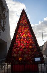 The Mdina Glass Christmas Tree - in backlight