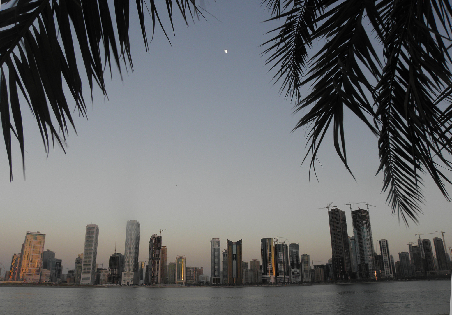 The Moon in the afternoon at Sharjah UAE