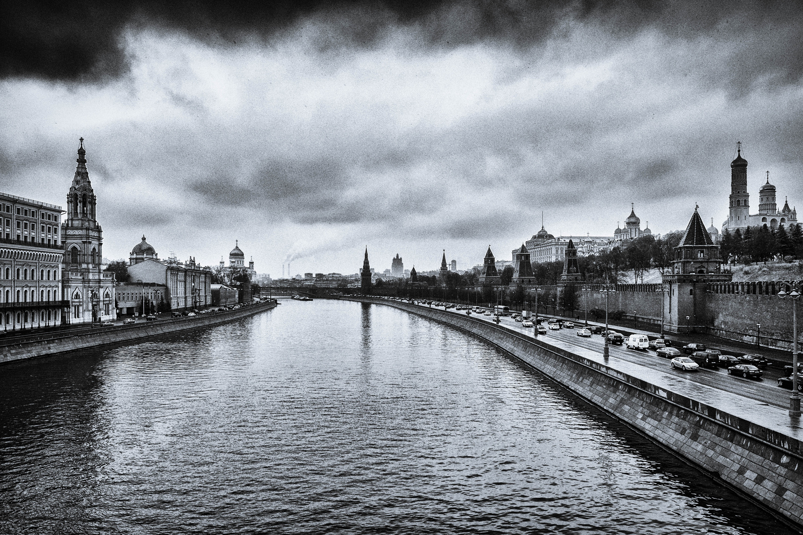 The Moskva River and Kremlin