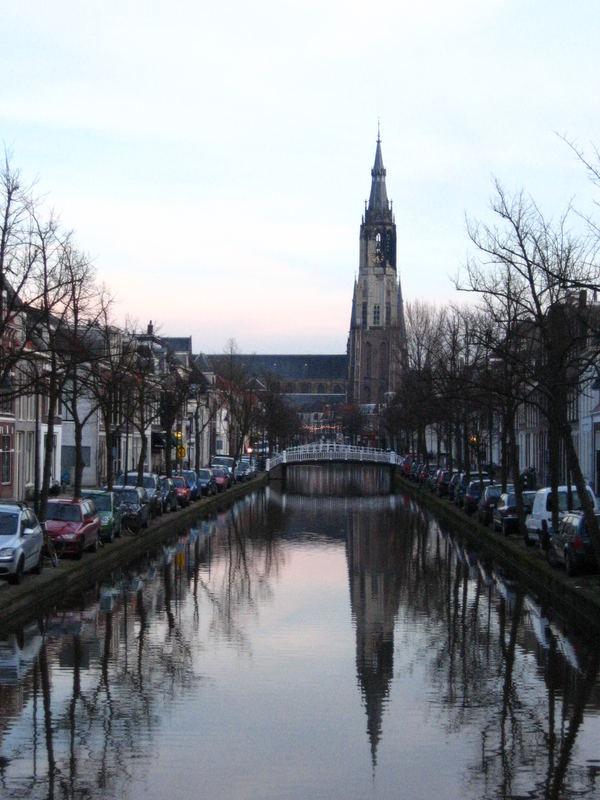 The Nieuwe Kerk at sunset (Delft)