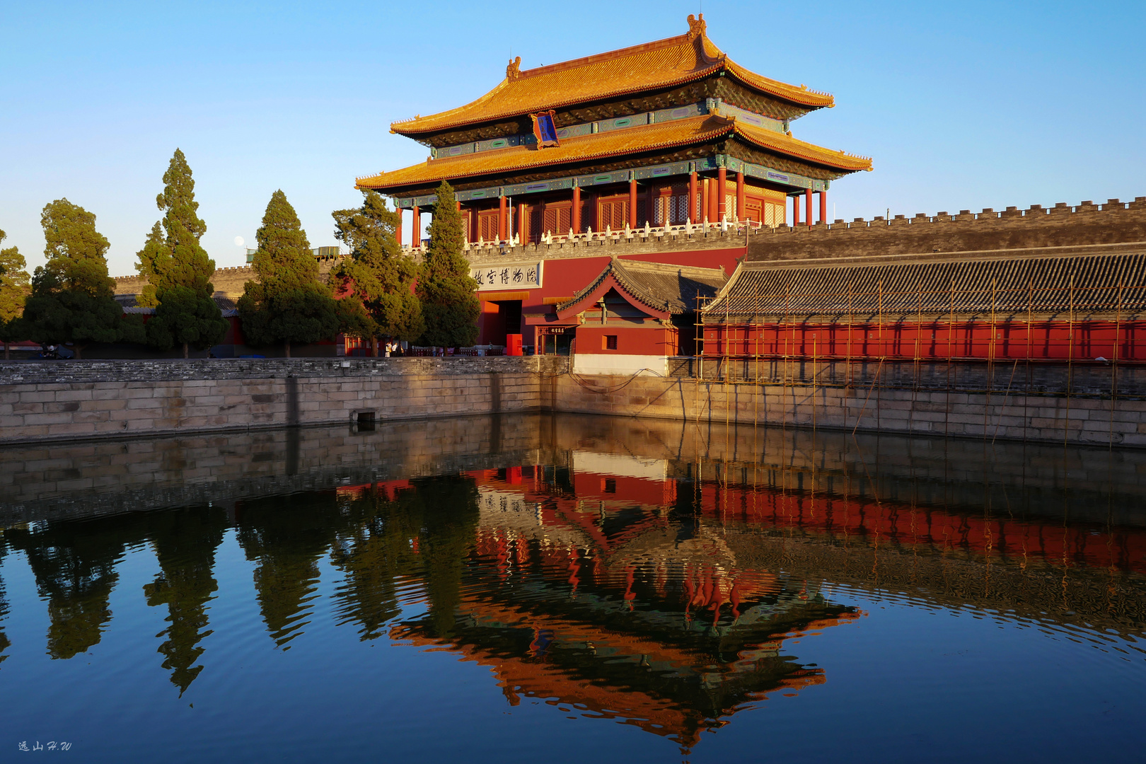 The north gate of the Forbidden City