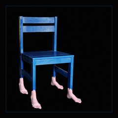 The old blue chair