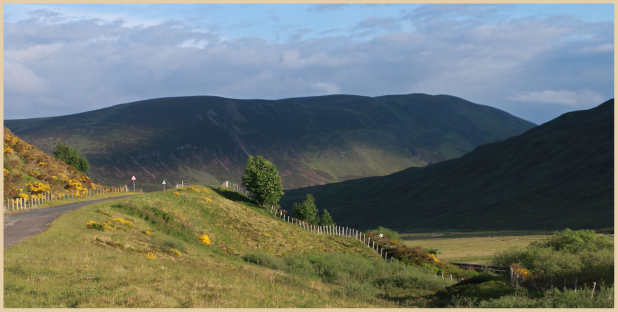 the old road near the pass of drumochter