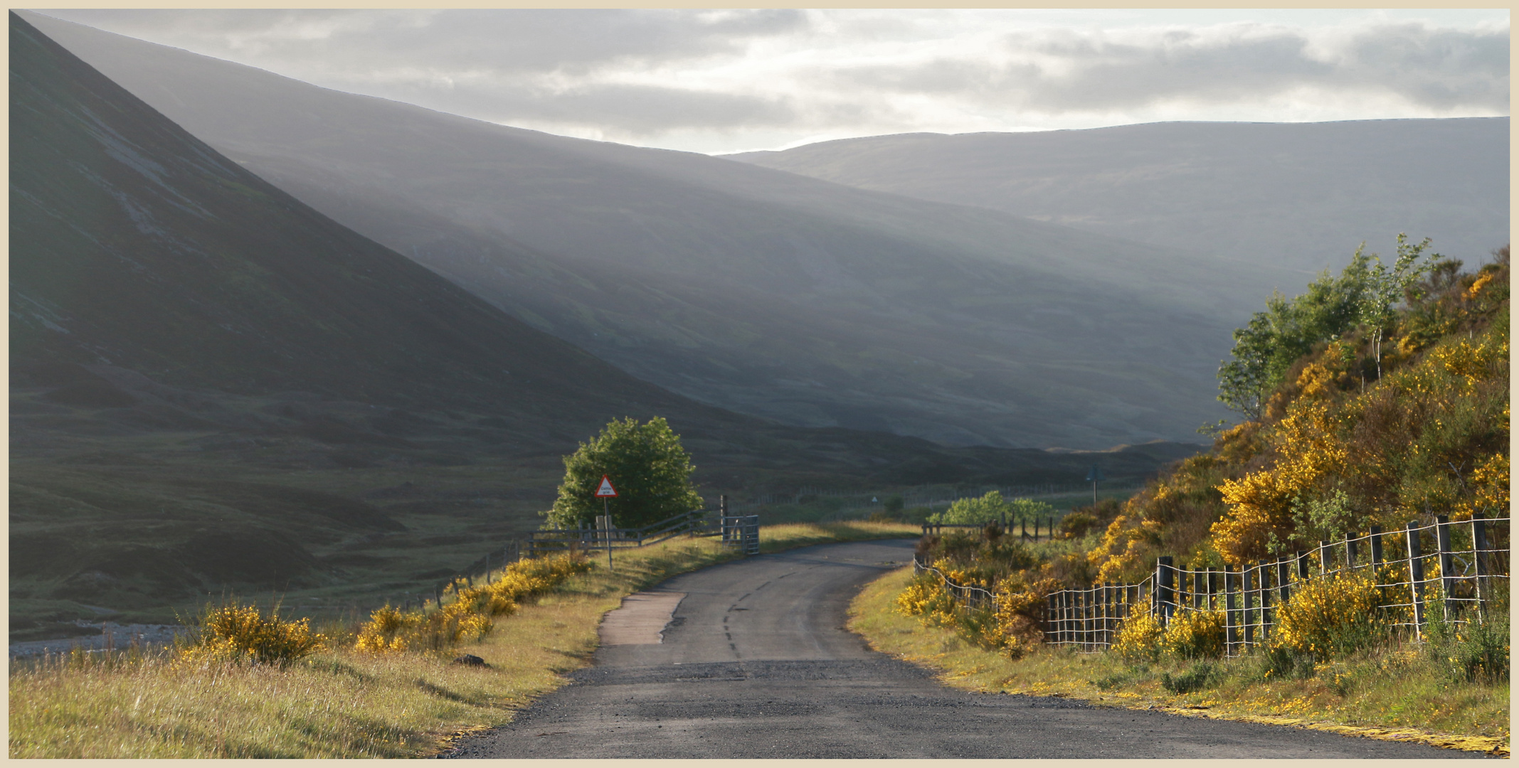 the old road near the pass of drumochter 8