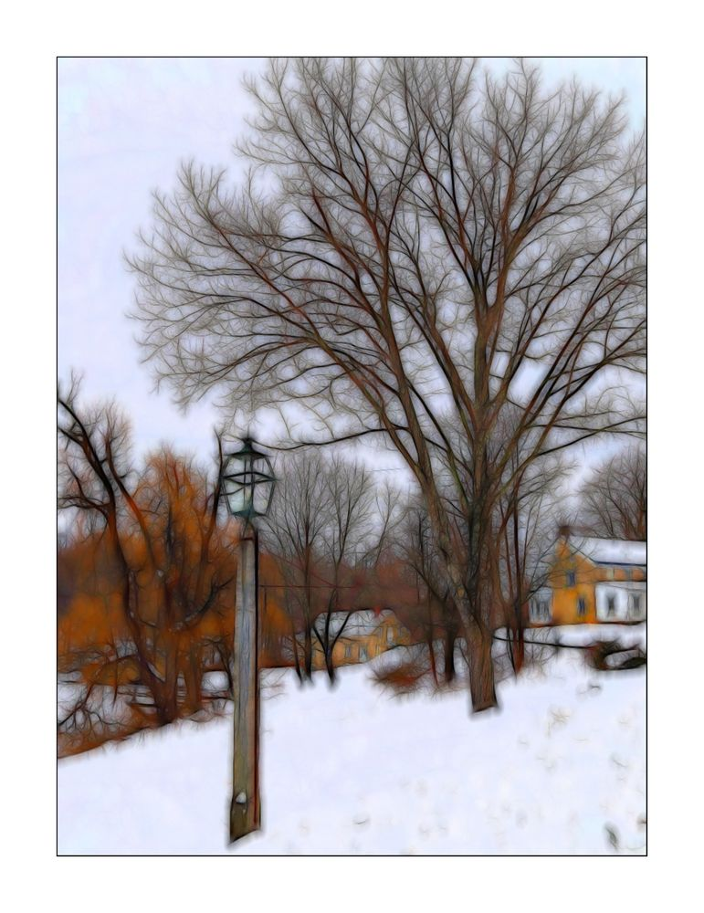 The old Village in Winter