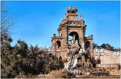 The Park`s Fountain in Barcelona.