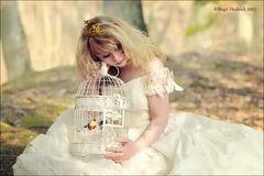 The princess and her lovely birds ! pieps ....