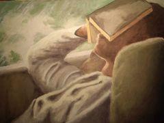 The Reader I - Acrylics on cardboard (Feb. 2009)