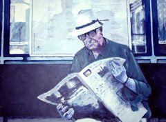 The Reader V - Acrylics on cardboard (Apr. '09)