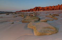 the red cliffs...