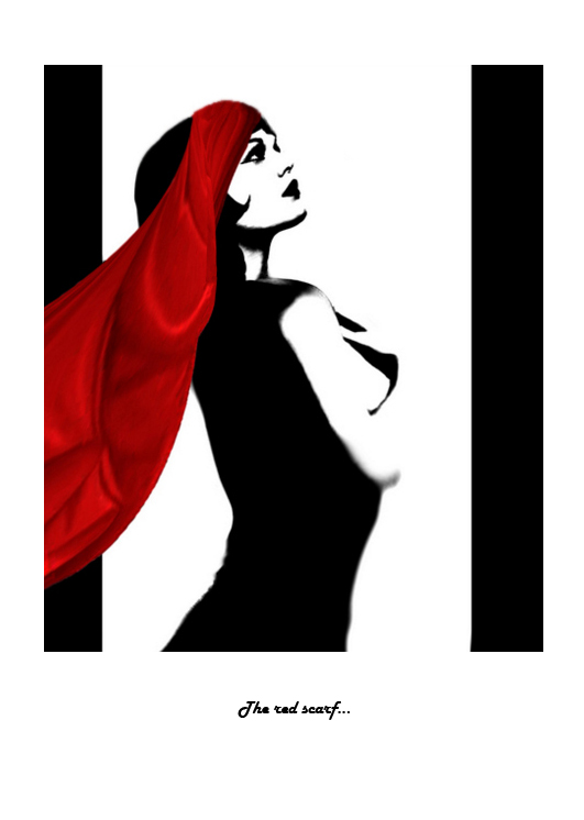 The red scarf...
