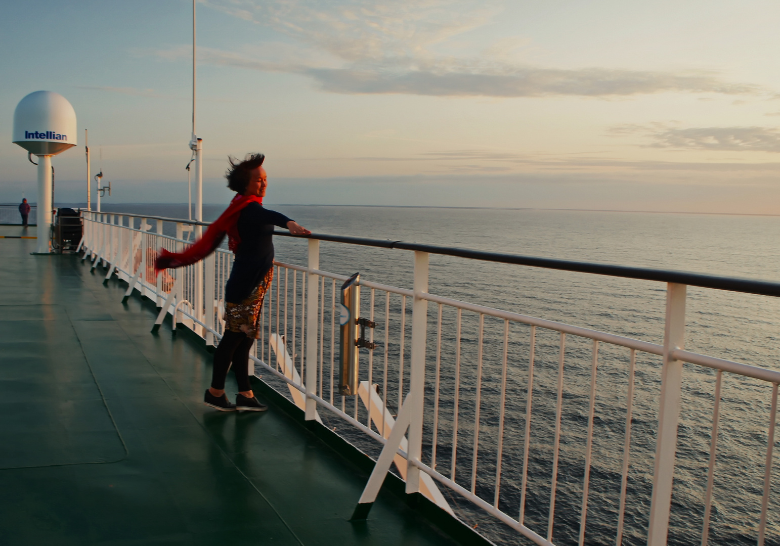 The red scarf over Baltic sea