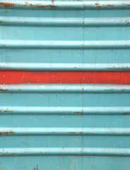 the red stripes with its blue neighbors