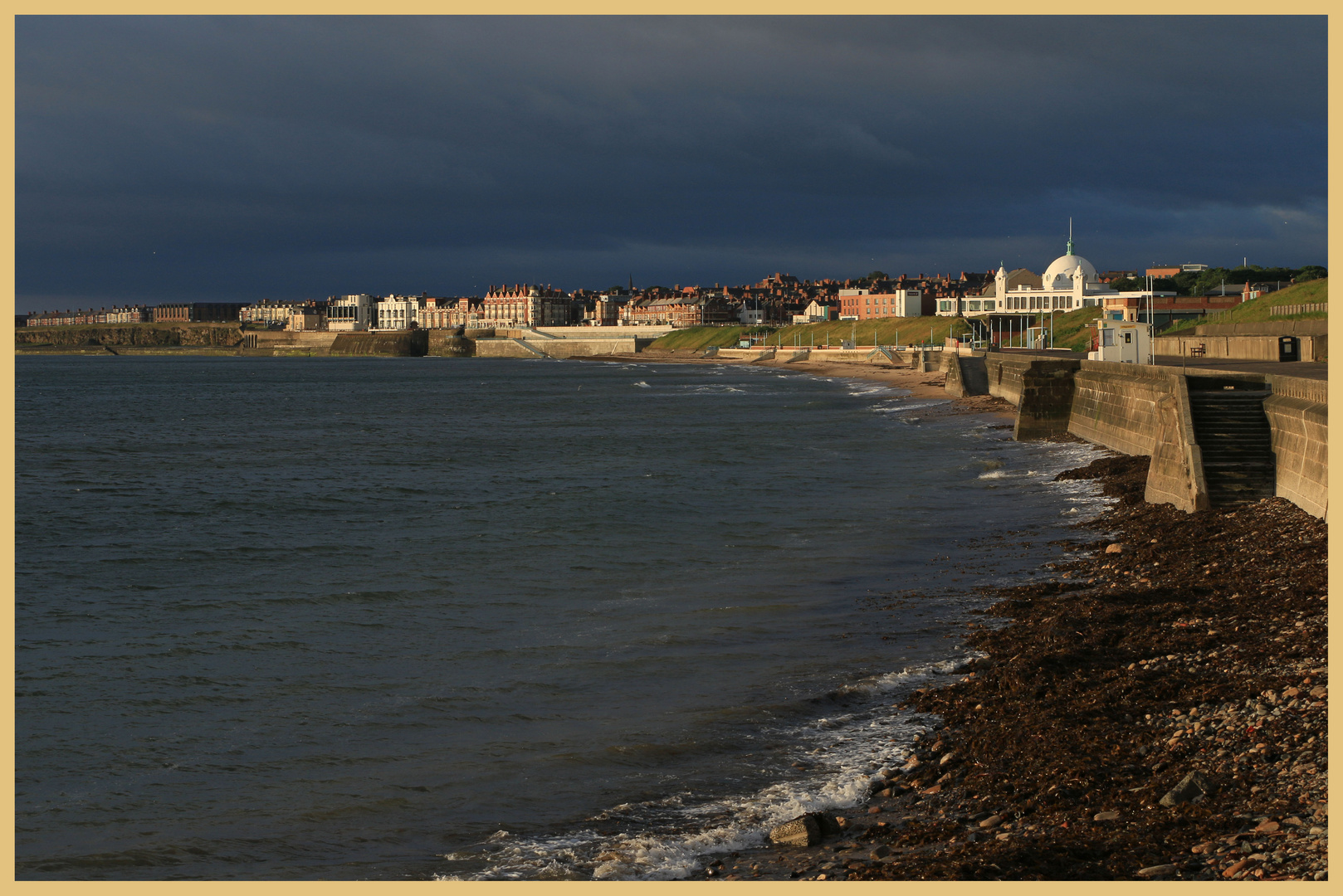 the sea front at whitley bay