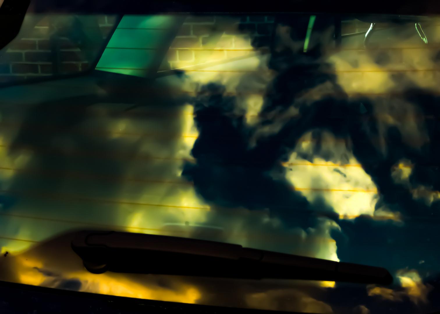 the sky in my car ...