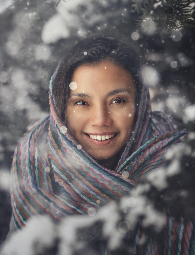 The snow smile