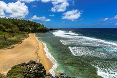 The south coast of Mauritius