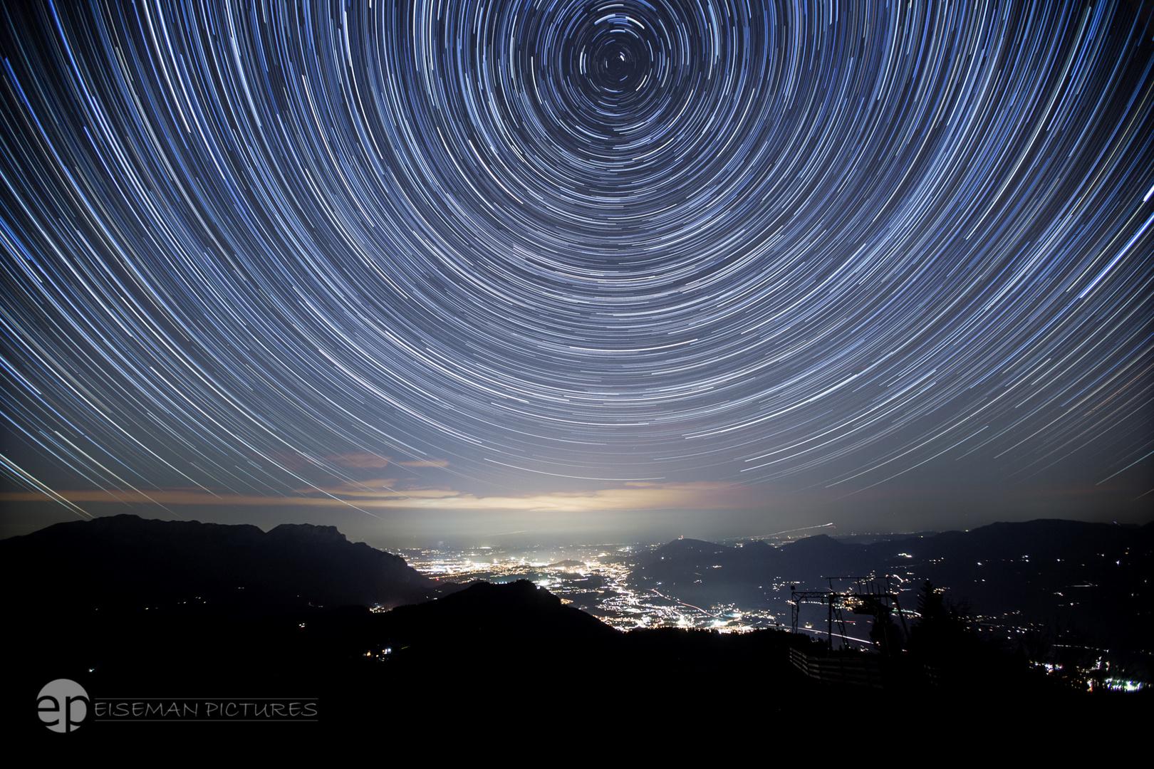 The stars over Berchtesgaden