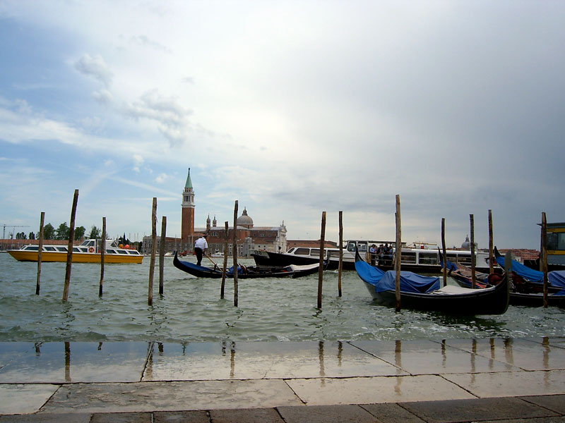 The storm coming in Venice