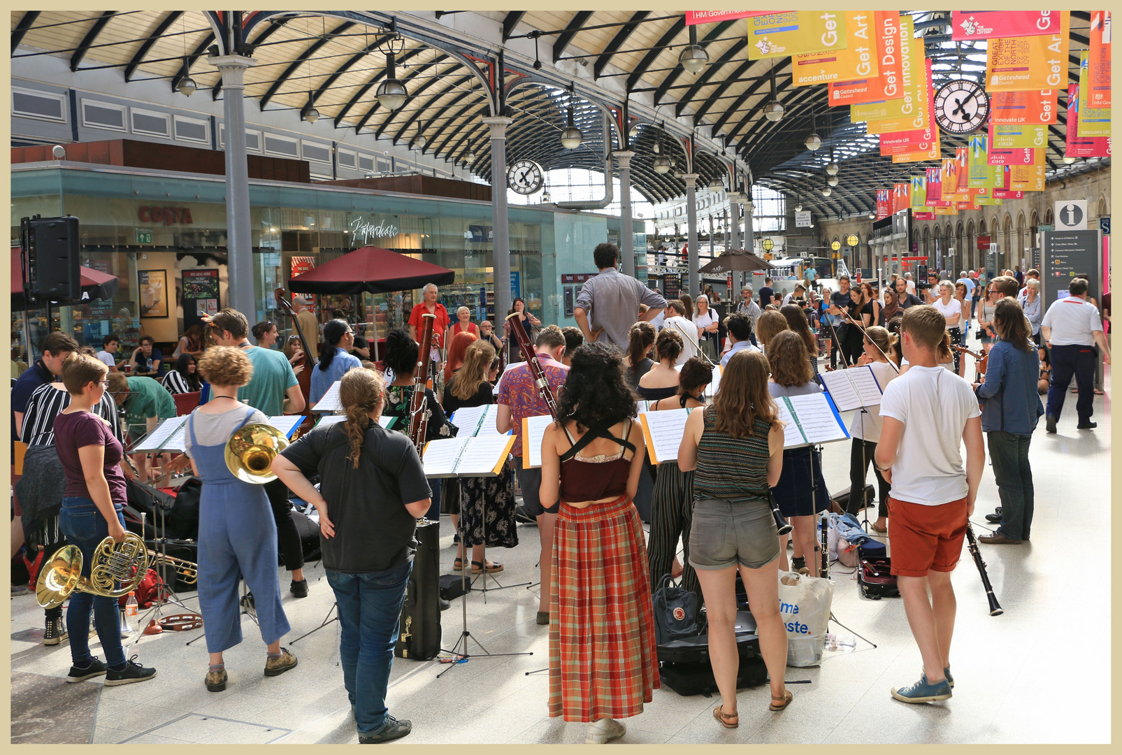 the street orchestra at the central station newcastle