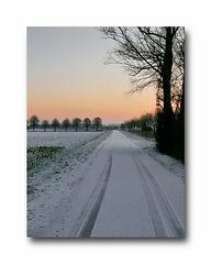 the street(dijk) before our home in Zeeuws-Vlaanderen
