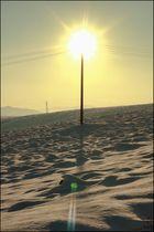 The sun & the snow