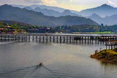 The teak bridge in Sangklaburi