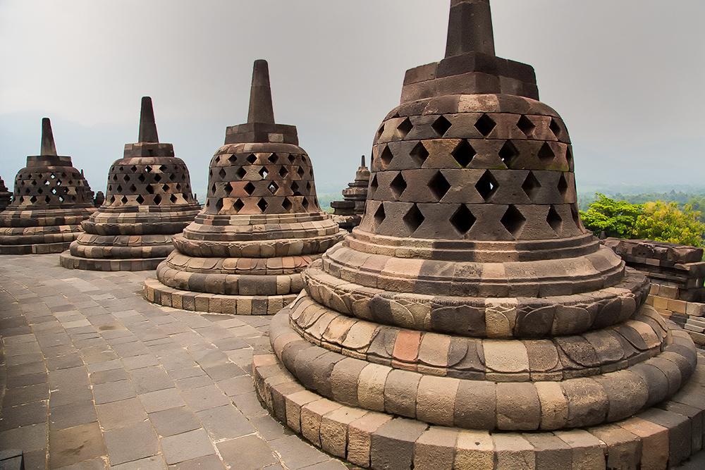 The temple of Borobodur Java