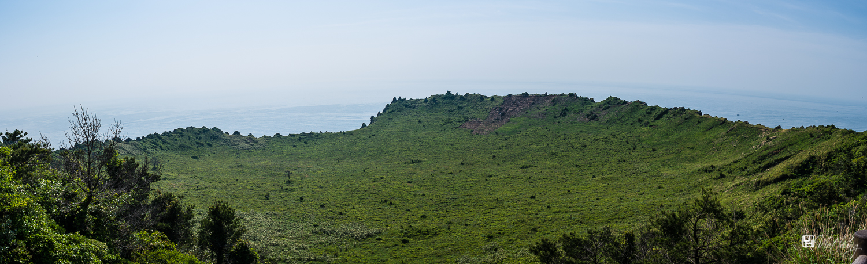 The top of Seongsan mountain