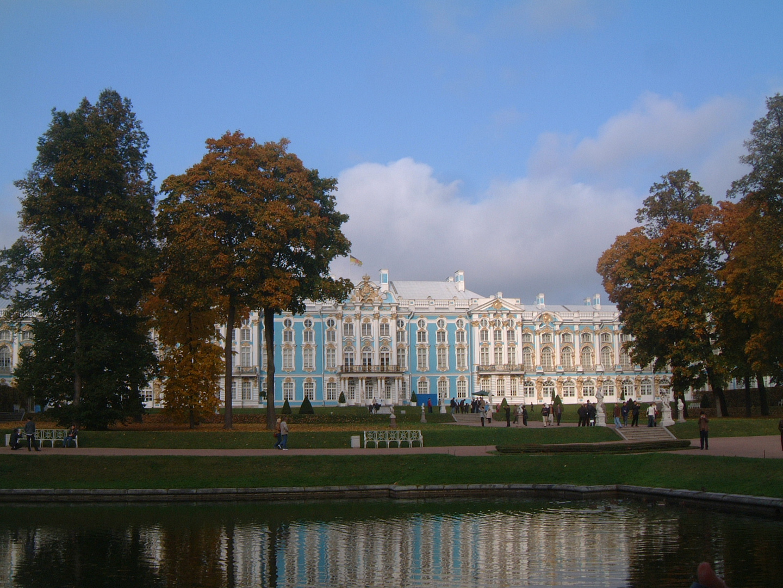 """The Tsaritza Catharine Palace in Zarskoje Zelo (""""Tsar Village"""")"""