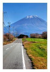 The way to Mt.Fuji
