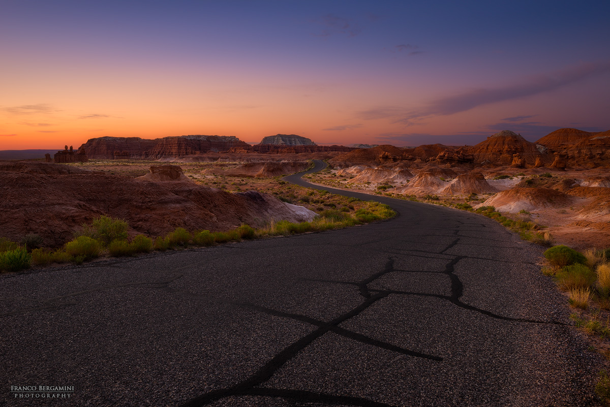The way to the Goblin Valley