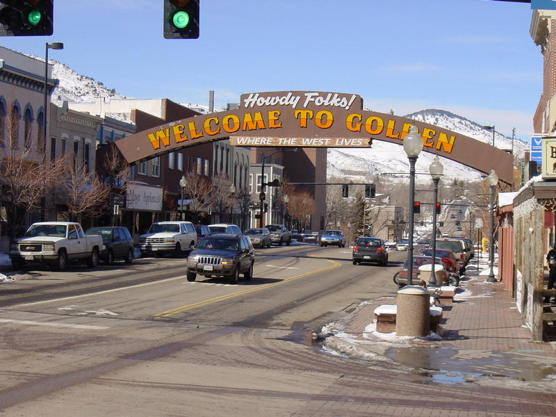 "The ""Welcome to Golden"" Arch, Golden, Colorado"