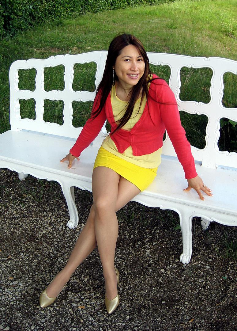 The White Bench Foto & Bild   fashion, outdoor, frauen