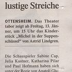 Theater Tabor - Tips vom 11.1.12