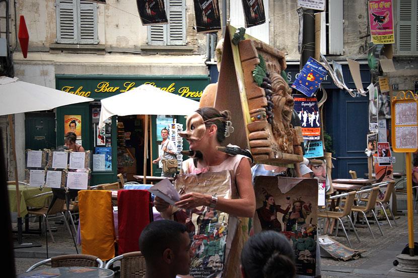 Theaterleute in Avignon