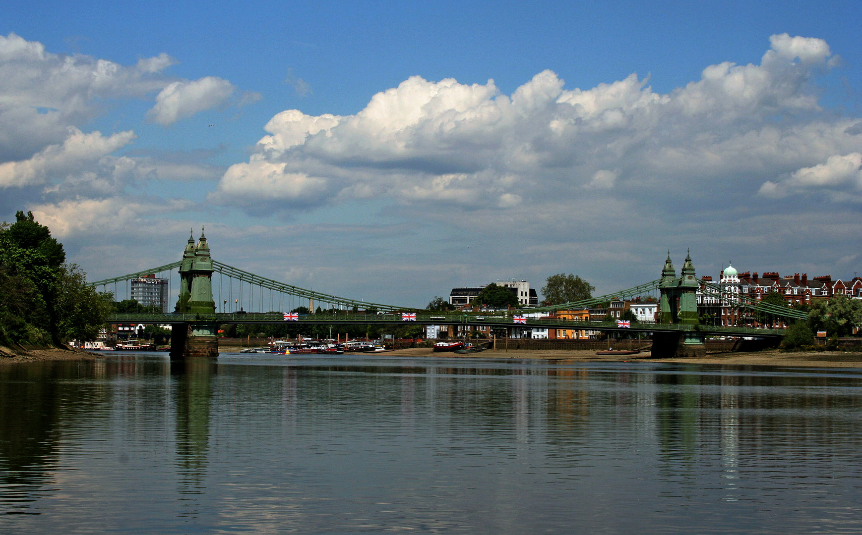 Themsefahrt von London nach Hampton Court 58: Hammersmith Bridge