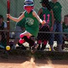 There's no jumping in softball!