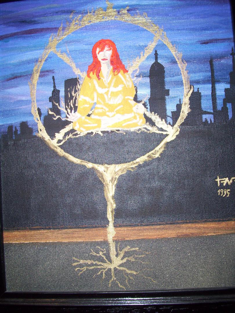 Thoth Nocturno : Levitation -Öl auf Leinwand (1995)-