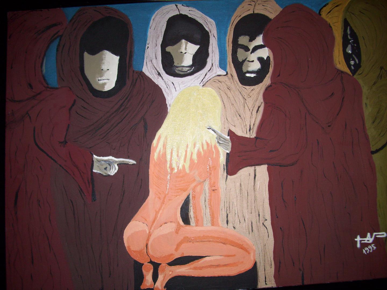 Thoth Nocturno : Tribunal Moral - Öl auf Leinwand (1995)-