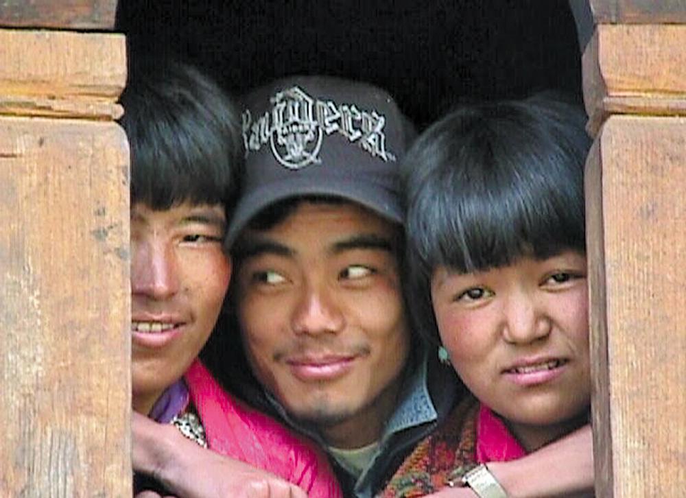 Three amiable Bhutaneses