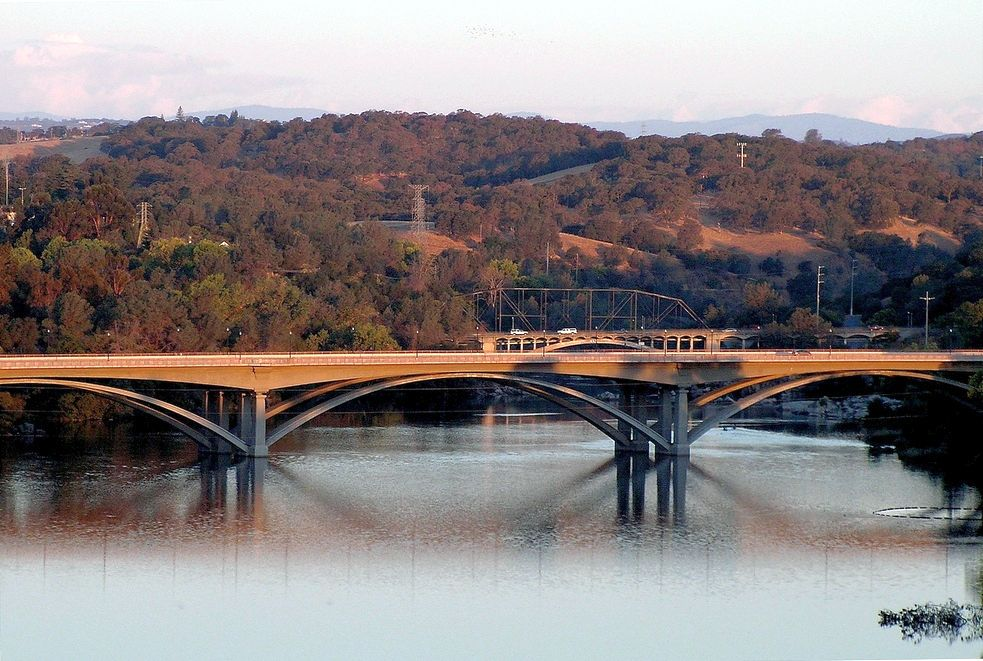 Three Bridges Over American River