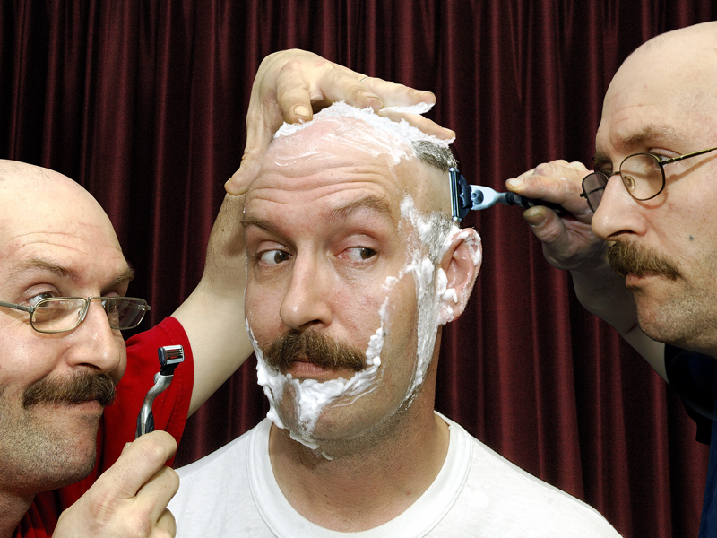 Three Heads for a Closer Shave