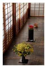 Three kinds of IKEBANA [Flower arrangement]