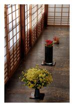 Three kinds of IKEBANA [Flower arrangement]