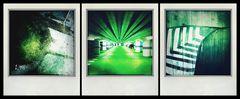 three shades of green