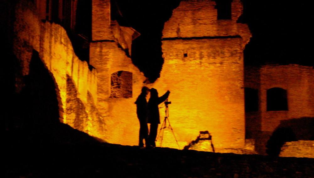 through the ruins